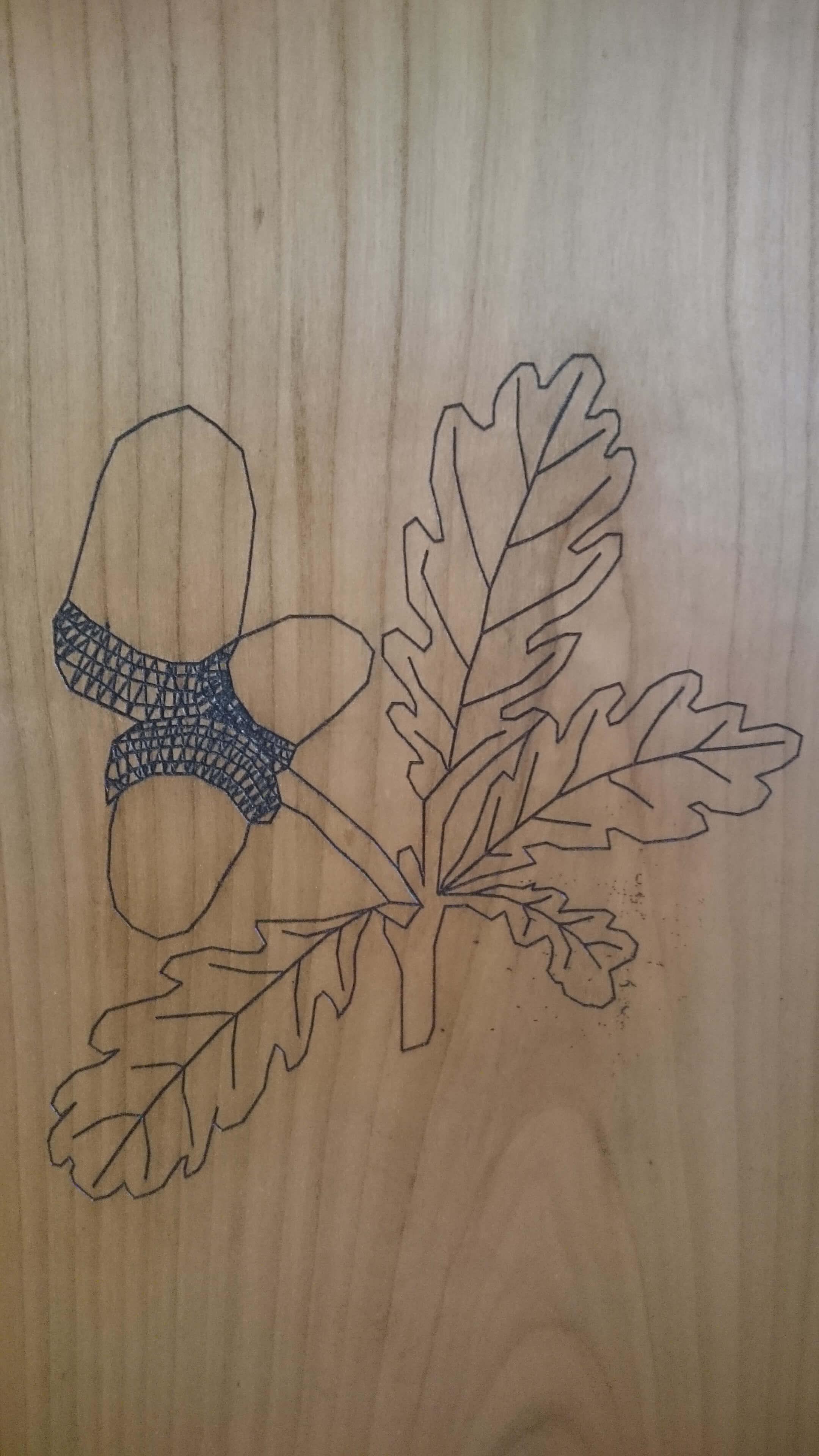 Menuiserie Figard - Fabrication sur mesure - Gravure - Merisier patiné - Vesoul