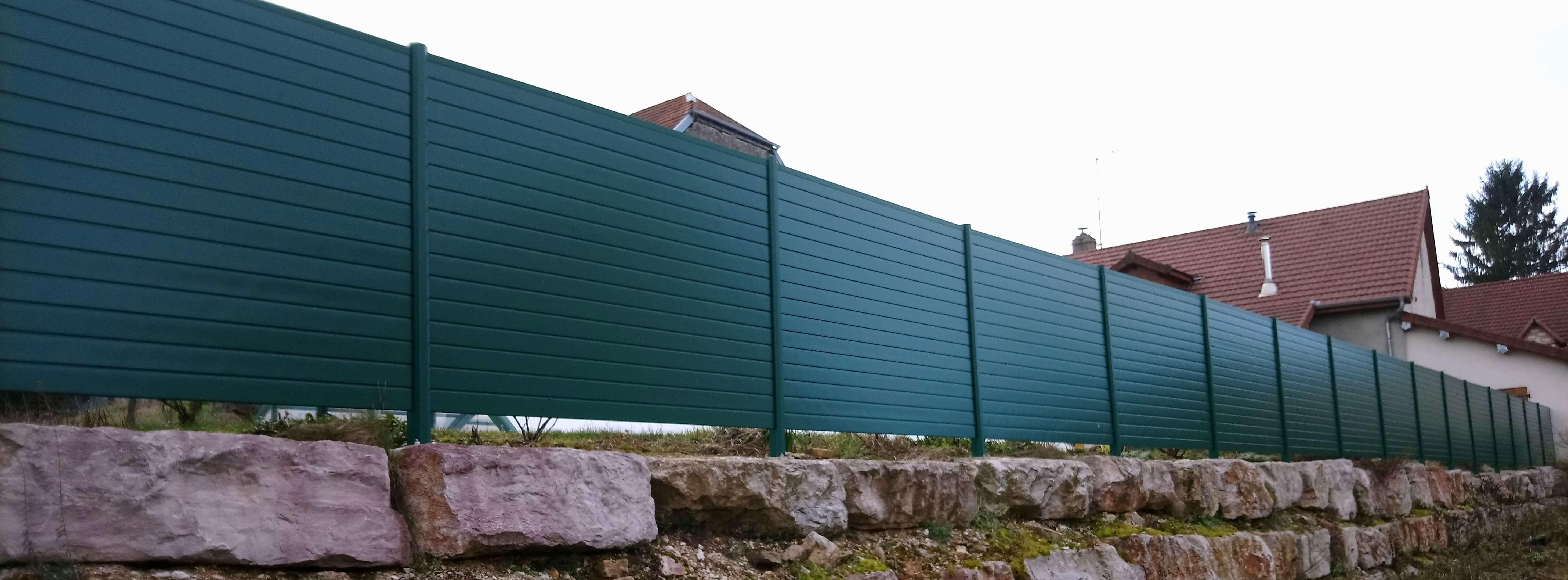 Menuiserie Figard - Fabrication sur mesure - Brise vue - Aluminium - Vesoul