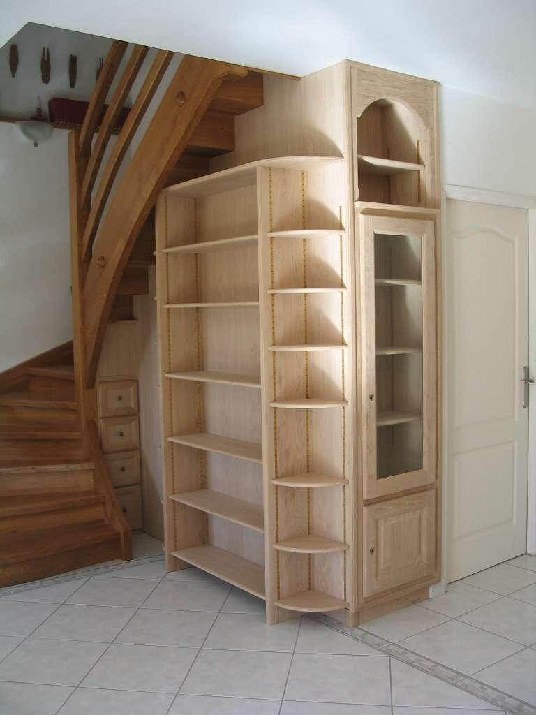 Menuiserie Figard - Fabrication sur mesure - Meuble sous escalier - Chêne - Vesoul