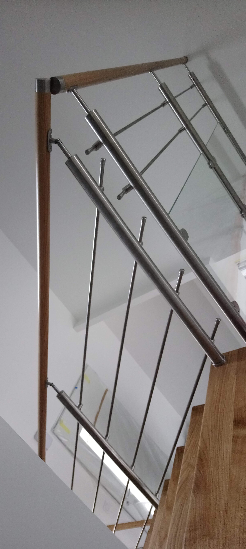 Menuiserie Figard - Fabrication sur mesure - Garde corps - Inox chêne - Vesoul