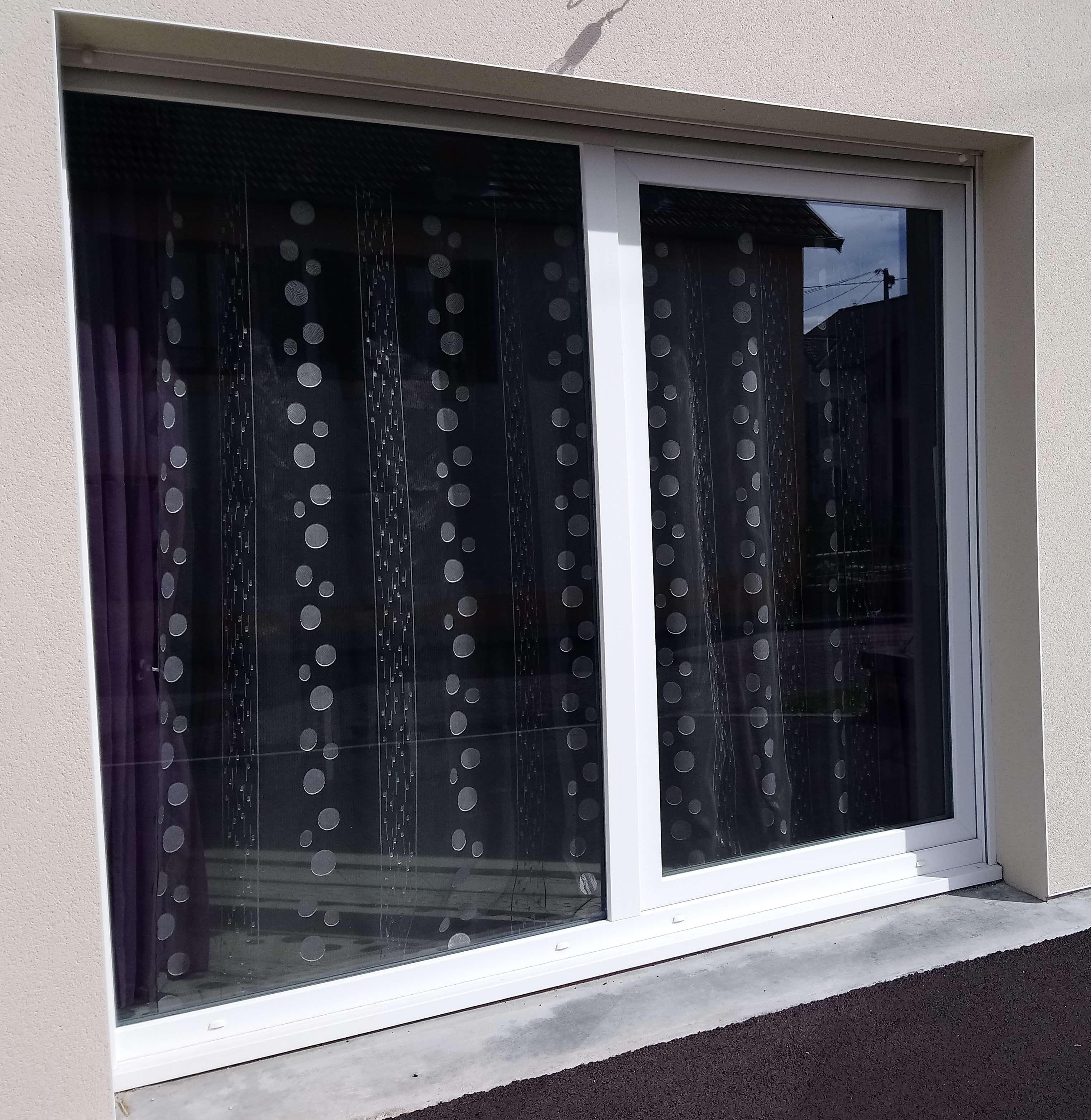 Menuiserie Figard - Fabrication sur mesure - Baie vitrée à translation - PVC - Vesoul