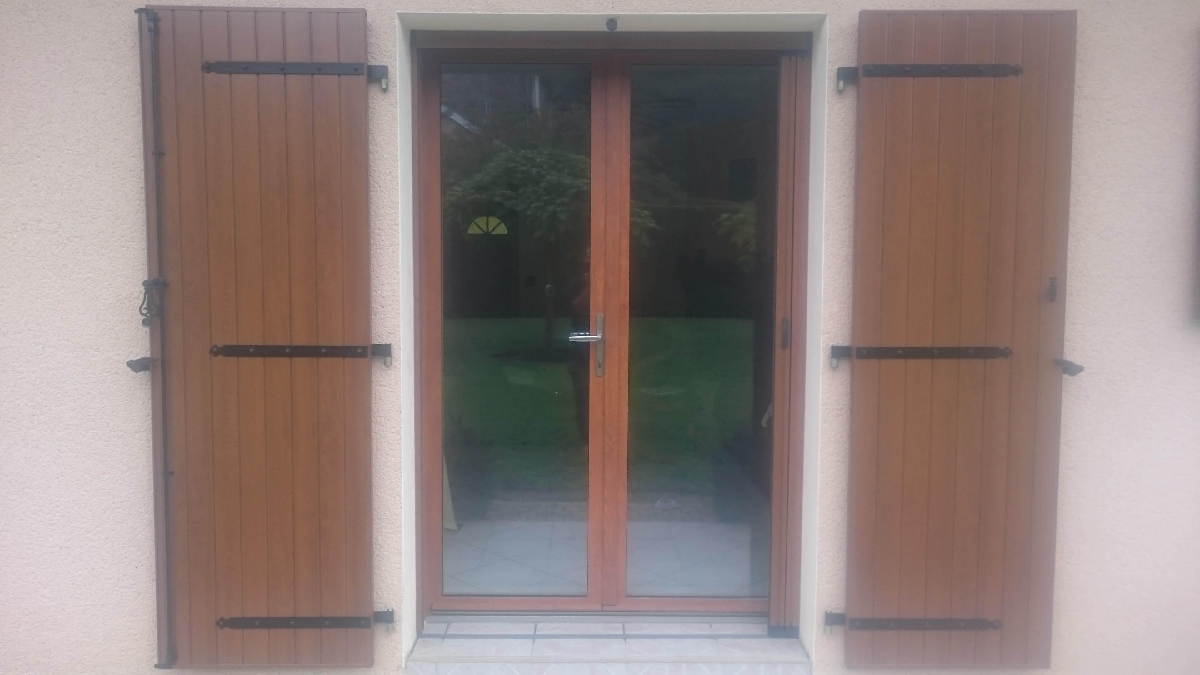 Menuiserie Figard - Fabrication sur mesure - Porte-fenêtre - Bois-aluminium - Vesoul